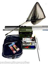 Starter Coarse Float Fishing Kit  10ft Rod, Pole  Reel Box Tackle  Rigs Nets