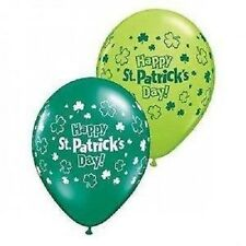 """Happy St Patricks Day 15 x 11"""" Large Printed Balloons Air or Helium FREE P+P"""