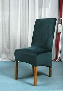 Chair Cover Real Velvet Fabric Long Back Europe Style Seat Hotel Party