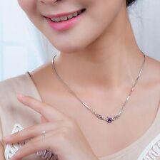 Nouvelle Bijoux en Argent Sterling Aile d'ange Cœur Pendentif Collier à la Mode
