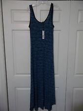 NEW Juniors Small 6/8 Maxi Dress Long Sleeveless RED HAUTE Hi-Low Blue Made USA