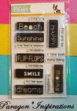 NEW SIMON SAYS STAMP SSS HAPPY BLOCK GREETINGS NLA RARE Beach Sunshine Flip-Flop