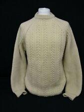 Men's Fisherman's Sweater, Mon Tricot, Aran Chunky Knit Jumper, Medium, 54cm W