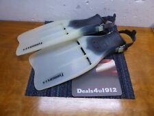 Dacor Turbo-Flex Dive Fins Made in Italy Size Medium SCUBA Adjustable Very Good
