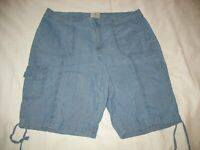 St Johns Bay Chambray Bermuda Shorts Sz 16 Blue Lightweight Womens
