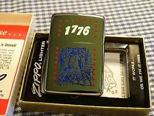 VINTAGE ZIPPO 1776 BICENTENNIAL HP CHROME LIGHTER 1975
