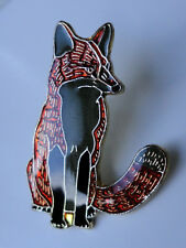 ZP78 Fox Enamel Lapel Pin Badge Brooch Bushy Tail Cunning as...