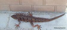 """Small Standing Iguana 31"""" Metal Sculpture Indoor, Yard Desert Indoor Hearth Art"""
