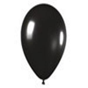 12 DELUXE BLACK Latex BALLOONS  Helium Grade 11 inch
