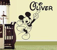 Mickey Mouse Personalizado Adhesivo Pared Decoración Adhesivo