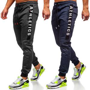 Trainingshose Sporthose Jogginghose Slim Fit Men Fitness Sport Herren BOLF Motiv
