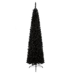 Premier Pencil Pine Slim Thin Black Christmas Tree Artificial 220cm 2.2m 7.5ft