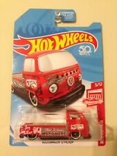 New! 2018 Hot Wheels Volkswagen VW T2 Pickup Target Red Edition