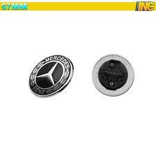57mm für Mercedes-Benz Motorhaube Ersatz Stern Emblem Vorne Emblem Schwarz