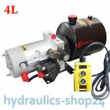 4L Stahltank Hydraulikaggregat Hydraulikpumpe 12V 180 bar 2000W Kipper Anhänger