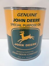 JOHN DEERE Special Purpose Oil Can 1 qt. (Reproduction Tin Collectible)
