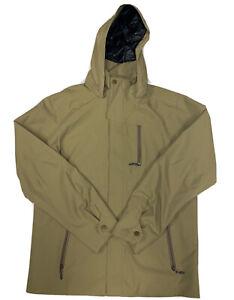 Marmot Men's Beige Full Zip Hooded Rain Jacket Size Medium