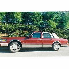 "1995-1997 Lincoln Town Car Sedan Chrome Rocker Panel Molding Trim 8"" FL 12Pc"