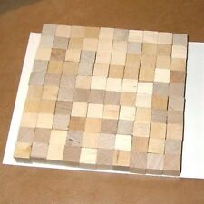 """100 Wood Blocks - 0.5 inch - 1/2"""" - Unfinished Cubes"""