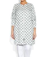 MARINA RINALDI by MAX MARA, Cotton Blend Coat, Size MR 27, 18W US, 48 DE, 56 IT
