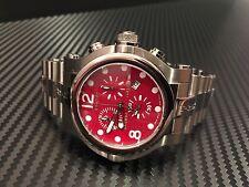 Renato Men's Limited Edition Titanium Red Dial Chronograph Watch