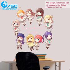 Anime Wall Sticker Love Live Sunshine All Character Vinyl Decal Decor sticker