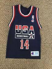 Alonzo Mourning Team USA Blue Champion Jersey Youth Small (6-8)