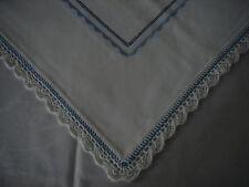 Mitteldecke Baumwolle Stickerei Plattstich Spitze Handarbeit 82x82 weiß CM274