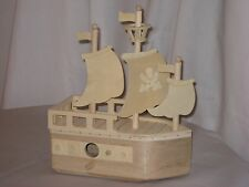 Birdhouse, Unfinished Wood, Pirate Ship