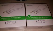 Ugreen 3.5mm Splitter Audio Headphone Y Adapter Cable Stereo for ipods mp3
