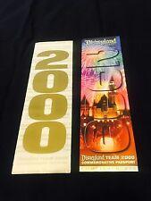 Disney Ephemera Cast Excl Millenium Dawn Commemorative Passport Souvenir Ticket