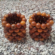 Lot 20 MM Natural Red Agathis King of Wood Bracelet 12 Beads Raja kayu #A11