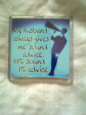 New fridge magnet with words and a man