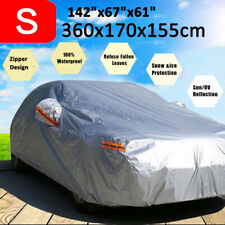 Heavy Duty Full Car Cover Sun UV Dust Rain Resist Waterproof Protector w/ Zipper