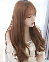 Women Girl Lady Fancy Fringe Cosplay Costume Party Long S curve Full Hair Wigs