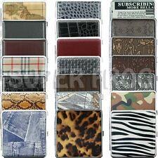 Cigarette Case King Size Metal Box Holder Leather Cases Tobacco 20 Cigarettes