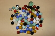 Lot of 70+ glass mixed marbles including two shooters