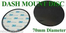 70MM DASHBOARD MOUNTING DISC - WITH 3M ADHESIVE STICKY PAD - FREE OR FAST POST