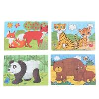 Development Baby Toys 3D Wooden Puzzle Cartoon Educational Kids Toy Gift WA
