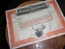 BANGOR AND AROOSTOOK RAILROAD STOCK CERTIFICATE  UNISSUED 1891