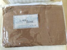 "Ann Gish Fringe Adult Throw Shawl Caramel Brown Color 50""x70"" Home Blanket New"