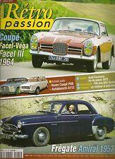 RETRO PASSION 225 FACEL III 1964 FREGATE AMIRAL ROVER P5 COUPE AUTOBIANCHI A112