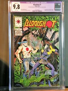 Bloodshot #7 C-1 CGC 9.8 NM/MT 1st Appearance in Ninjak Costume 1993