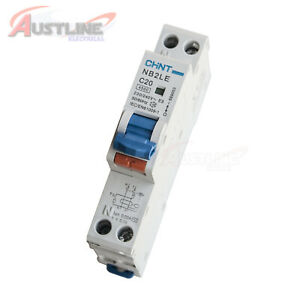 4.5KA 20A RCD / MCB Safety Switch Circuit Breaker RCBO 1 Pole +N CHINT