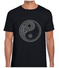 Yin Yang Mandala mens camiseta Hinduismo Budismo Hindú Yoga Indio de Moda Nuevo