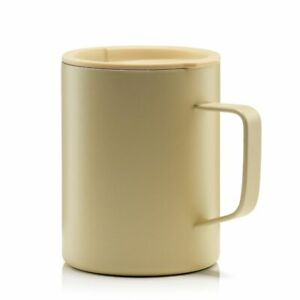 MIZU Becher Edelstahl mit Kaffeedeckel, CAMP CUP 400 ml - sand