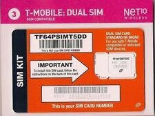 T-Mobile Net10 Dual Sim Card Gsm Compatible New