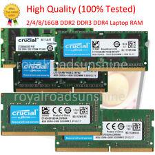 Crucial 2/4/8/16GB DDR4 PC4 DDR3 1333 1600 2133 2400Mhz RAM Laptop Memory LOT
