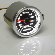 """2"""" 52mm Car Universal Pointer Psi Turbo Boost Gauge Meter Smoke Tint Len LED"""