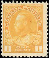 Canada Mint NH 1922 F+ DRY PRINT DIE I Scott #105f 1c Admiral KG V Stamp